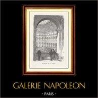 Vue de Paris - Monuments Historiques de Paris - Palais Brongniart - Intérieur de la Bourse de Paris