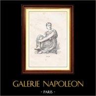 Antikens Grekland - Trojanska Kriget - Iliaden (Jean Auguste Dominique Ingres) | Original trästick graverade av Hurel efter J.A. Ingres. 1867
