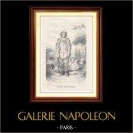 Musée du Louvre - Pierrot - Gilles (Antoine Watteau) | Gravure sur bois originale dessinée par E. Hédoin d'après A. Watteau, gravée par J.F. Delduc. 1867