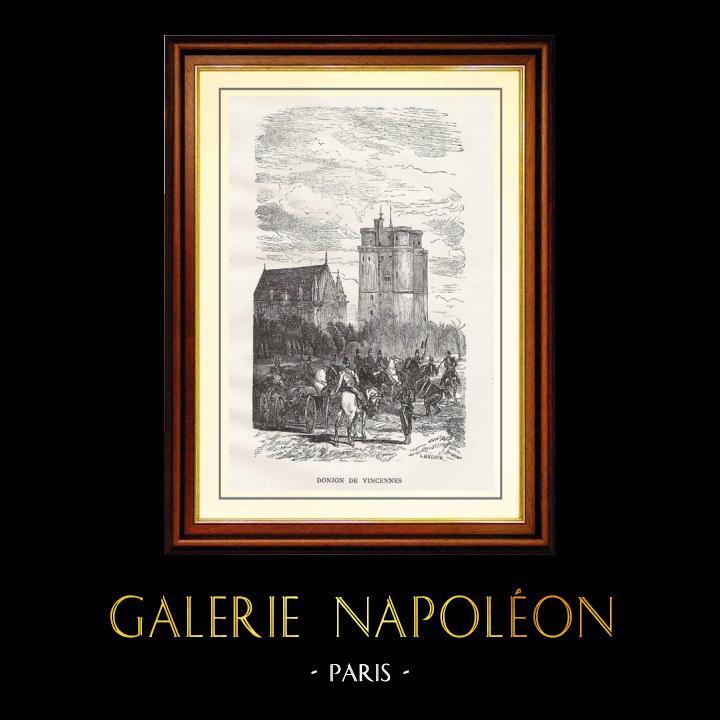 Gravures Anciennes & Dessins | Monuments Historiques de France - Donjon du Château de Vincennes | Gravure sur bois | 1867