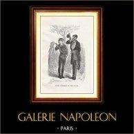 Synhåll - Historiska Platserna och Monumenten i Paris - Mode - 1800-talet - Parisare Man | Original trästick efter teckningar av F. Rops, graverade av Boetzel. 1867