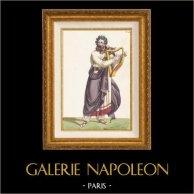 Gallien - Druid - Dräkt av Gallisk Bard - Galliër - Opera Pharamond av Berton, Boieldieu och Kreutzer (Paris, 1825)