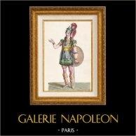 Gaule - Costume de Soldat Gaulois - Romuald - Ferdinand Prévot - Opéra Pharamond de Boieldieu et Kreutzer (Paris, 1825)