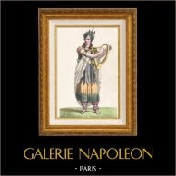 Gaul - Costume of Gaulish Bard - Gallic Druid - Mr Lafond - Opera Pharamond by Berton, Boieldieu and Kreutzer (Paris, 1825) | Original lithograph drawn by Fauconier after Hte l, lithographed by G. Engelmann. Original hand-colored. 1827