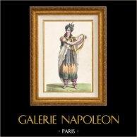 Galia - Druida - Traje de Bardo Galo - Mr Lafond - Ópera Pharamond (Faramundo) de Berton, Boieldieu y Kreutzer (París, 1825)