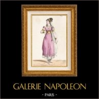Gaule - Costume de Gauloise - Isule - Melle Jawureck - Opéra Pharamond de Berton, Boieldieu et Kreutzer (Paris, 1825)