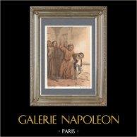 Die Kindheit von Salvator Rosa, Italienischer Maler (1615-1673)