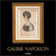 Französische Mode und Kostüme - 16. Jahrhundert - Bürgerinnen - Porträt von Mademoiselle Mars