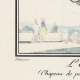 DÉTAILS 02   Gravure de Mode Française - Romantisme - Chapeau de Paille Brodé sans Rubans - L'Escarpolette