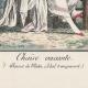 DÉTAILS 01   Gravure de Mode Française - Romantisme - Bonnet du Matin et Châle Transparent - Chaise Vacante
