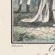 DÉTAILS 02   Gravure de Mode Française - Romantisme - Bonnet du Matin et Châle Transparent - Chaise Vacante