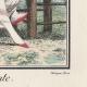 DÉTAILS 03   Gravure de Mode Française - Romantisme - Bonnet du Matin et Châle Transparent - Chaise Vacante