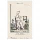 DÉTAILS 08   Gravure de Mode Française - Romantisme - Bonnet du Matin et Châle Transparent - Chaise Vacante