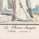 DÉTAILS 01 | Gravure de Mode Française - Romantisme - Robe Croisée - La Phrase Changée
