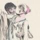 DÉTAILS 04 | Gravure de Mode Française - Romantisme - Robe Croisée - La Phrase Changée