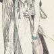 DÉTAILS 06 | Gravure de Mode Française - Romantisme - Robe Croisée - La Phrase Changée