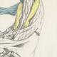 DÉTAILS 06 | Gravure de Mode Française - Romantisme - Fichu Noir et Tablier de Gaze - Ah Quel Vent !