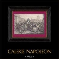 Revolução Francesa - Triunfo de Jean-Paul Marat Levado pelo Povo após o seu Absolvição pelo Tribunal Revolucionário (24 de Abril de 1793)