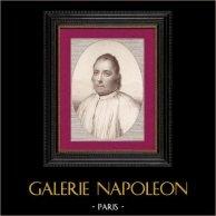 Portrait du Missionnaire Guyon | Gravure sur cuivre originale dessinée par Béra, gravée par Massol. 1810