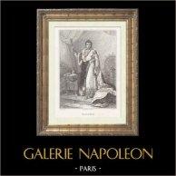 Portrait de Napoléon Ier, Empereur des Français (1769-1821) | Gravure sur acier originale dessinée par Gérard, gravée par Gouttière. 1833