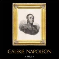 Portrait de Louis-Gabriel Suchet, Général de Napoléon, Maréchal d'Empire (1770-1826) | Gravure sur acier originale gravée par Pollet. Chine-collé. 1833