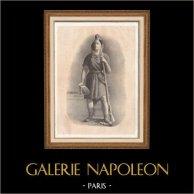 Révolution Française - La Marseillaise - Marianne et son Bonnet Phrygien - Liberté Chérie | Lithographie originale lithographiée par H. Laugelot. 1820