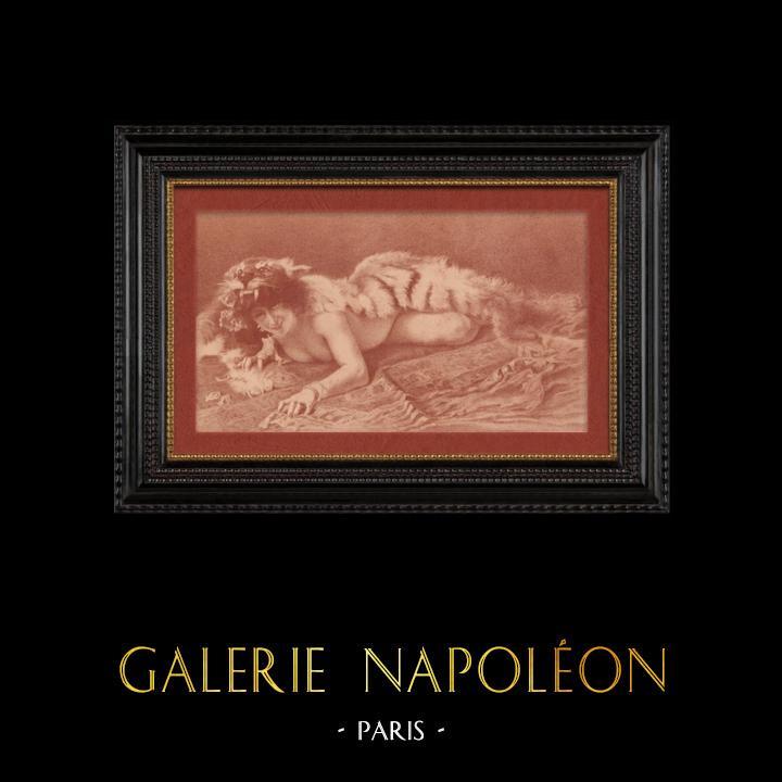 Gravures Anciennes & Dessins   Nu Artistique - Erotisme - Pattes de Velours (Ribera)   Lithographie   1901