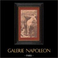 Nudo Artistico - Arte Erotica - Mitologia Greca - Andromeda, Perseo ed il Mostro Cefeo (Charles Alexandre Coessin De La Fosse)