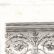 DETAILS 03   Drawing of Architect - Architecture - Theater - Théâtre du Vaudeville - Boulevard des Capucines in Paris (M. Magne)