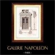 Dibujo de Arquitecto - Arquitectura - Casa - Edificio - Vivienda 38 Rue Saint Placide en Paris (M. Davioud) | Original acero grabado. Anónimo. [Specimen]. 1870