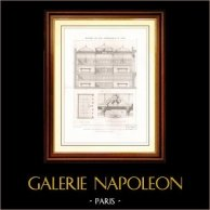 Dibujo de Arquitecto - Arquitectura - Interior de Almacén - 21 Rue Croix des Petits en Paris (Edmond Navarre)