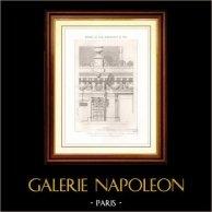 Dessin d'Architecte - Architecture - Maisons Monumentales - Place de l'étoile à Paris (M.M. Hittorff & Rohault de Fleury)