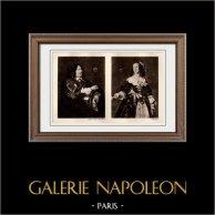 Portrait de Stephanus Geraerdts (Frans Hals) - Portrait de Isabella Coymans, épouse de Stephanus Geraerdts (Frans Hals) | Héliogravure originale sur papier velin d'après Frans Hals. Anonyme. 1910