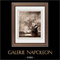 Naval Battle - The Cannon Shot (Willem van de Velde)