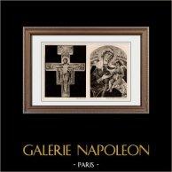 Crucifix - Crucifixion de Jésus (Basilique Sainte-Claire d'Assise, Italie) - La Madone avec l'Enfant Jésus (Guido de Sienne)