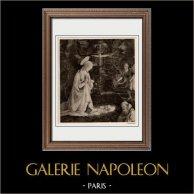 Vierge Marie - La Madone avec l'Enfant Jésus (Fra Filippo Lippi) | Héliogravure originale sur papier velin d'après Fra Filippo Lippi. Anonyme. 1910