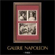 Portrait de Femme (Francisco Bayeu) - Le Jeu de la Vaquilla - Tapisserie - Coll. Roi D'Espagne