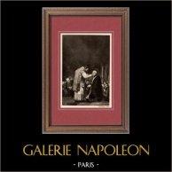 L'ultima Comunione di San Giuseppe Calasanzio (Francisco Goya) - San Antonio - Madrid   Incisione heliogravure originale su carta velina secondo Francisco Goya. Anonima. 1910