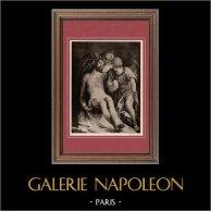 Jésus Christ - Pietà (Paul Veronese) | Héliogravure originale sur papier velin d'après Paolo Veronese. Anonyme. 1910