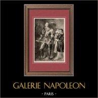 Portrait de Alof de Wignacourt - Grand Maître de l'Ordre de Malte (Le Caravage) | Héliogravure originale sur papier velin d'après Caravaggio. Anonyme. 1910