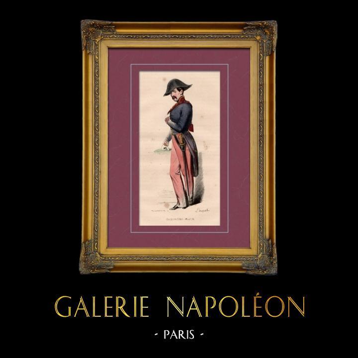 Gravures Anciennes & Dessins   Uniforme Militaire - Costume - Guerres Napoléoniennes - Chirurgien Major   Taille-douce   1842