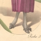 DETAILS 04 | Fashion Plate - French Mode - Parisian Woman - Paris - France - Silk - Dress for the Autumn