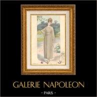 Gravure de Mode - Femme Française - Parisienne - France - Robe - L'Allure Nouvelle - Création Georgette