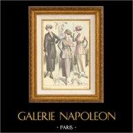 Gravure de Mode - Femme Française - Parisienne - France - Tailleurs Légers - Création Georgette & Création Rossen