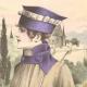 DÉTAILS 01 | Gravure de Mode - Femme Française - Parisienne - France - Manteau de Voyage ou de Sport