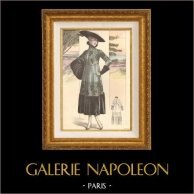 Gravure de Mode - Femme Française - Parisienne - France - Manteau