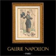 Gravure de Mode - Femme Française - Parisienne - France - Robe - Créations de Pitoëff