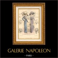 Fashion Plate - French Mode - Parisian Woman - Paris - France - Le Salon de la Mode   Fashion plate. Original hand-colored. Anonymous. 1911