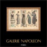 Gravure de Mode - Femme Française - Parisienne - France - Creation Georgette - Creations de Pitoëff