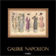 Gravure de Mode - Femme Française - Parisienne - France - Quelques Petites Robes - Creation Beer - Creations Elise Poret